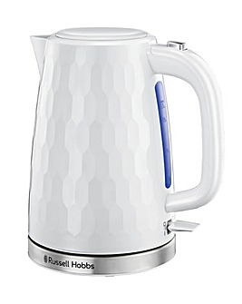 Russell Hobbs 26050 Textured Honeycomb White Kettle
