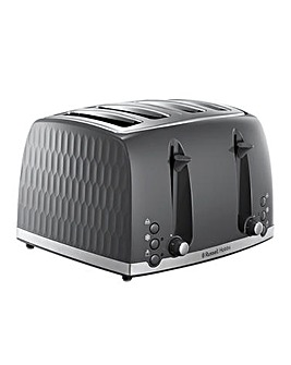 Russell Hobbs 26073 Textured Honeycomb Grey 4 Slice Toaster