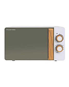 Russell Hobbs RHMM713 17Litre Wooden Handle Manual Microwave - White