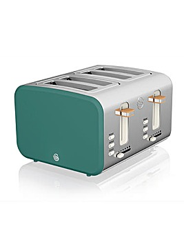 Swan Nordic Style 4 Slice Green Toaster