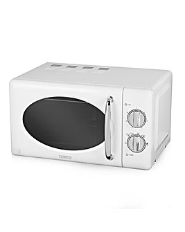 Tower 20Litre 800W Manual White Microwave