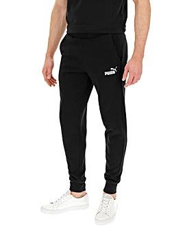 New Mens PUMA Tracksuit Bottoms Jogging Sweat Pants Trackies Joggers Black