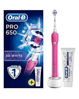 Oral-B Pro 650 Pink 3D Toothbrush