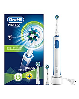 Oral-B Pro 570 Cross Action Electric Toothbrush with FREE Brush Head