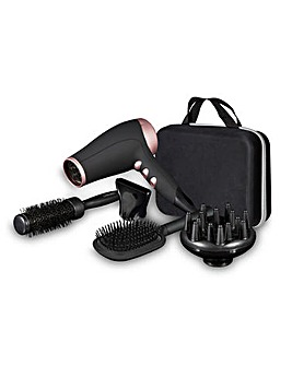 Carmen Noir 2200W Black Hair Dryer Styling Set