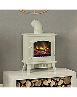 Be Modern Kingsbridge Fire Suite with Cream Colman and Flue Pipe