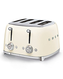 Smeg TSF03 4 Slice Cream Toaster