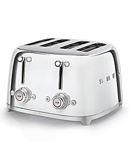 Smeg TSF03 4 Slice Stainless Toaster