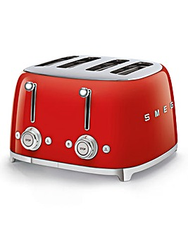 Smeg TSF03 4 Slice Red Toaster