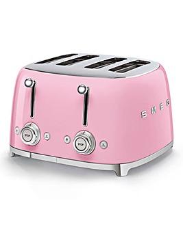 Smeg TSF03 4 Slice Pink Toaster