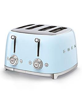 Smeg TSF03 4 Slice Blue Toaster