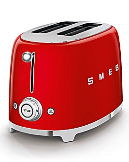 Smeg TSF01 2 Slice Red Toaster