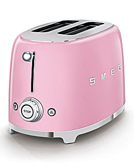 Smeg TSF01 2 Slice Pink Toaster
