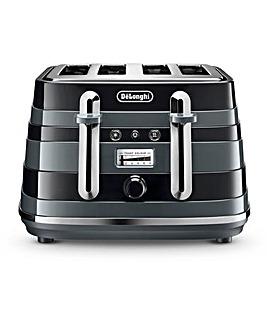 DeLonghi CTAC4003BK Avvolta 4 Slice Black Toaster