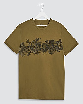 Skull print sublimation graphic t shirt Long