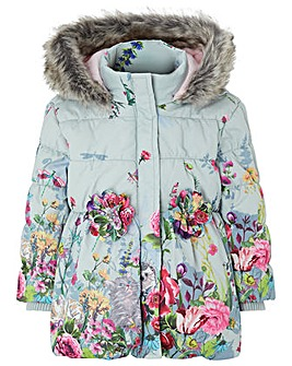 Monsoon Baby Libby Border  Padded Coat