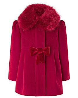 Monsoon Baby Rosie Red Coat