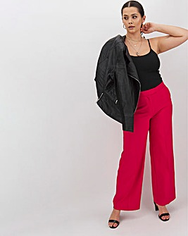 Mix & Match Raspberry Wide Leg Trousers