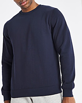 Navy Crew Neck Sweat Long