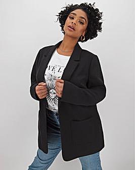 Black Fashion Stretch Throw On Blazer
