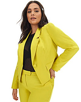 Mix & Match Lime Cropped Blazer