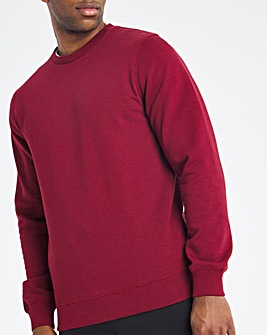 Wine Crew Neck Sweat Long