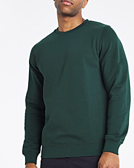 Green Crew Neck Sweat Long