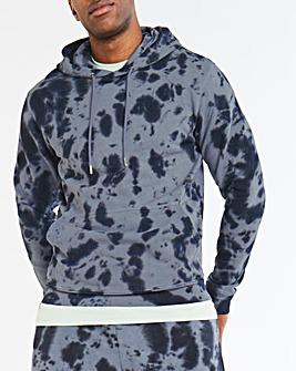 Jacamo Tie Dye Overhead Hooded Top Long
