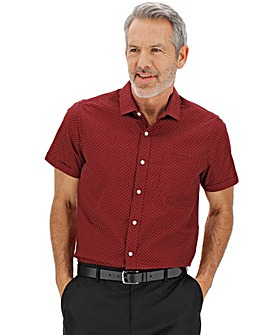 Wine Polka Dot Short Sleeve Shirt