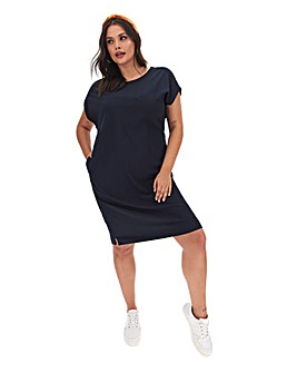 Navy Cocoon T-shirt Dress