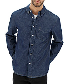 Indigo Long Sleeve Denim Shirt