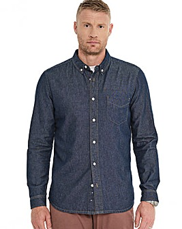 Indigo Long Sleeve Denim Shirt Long