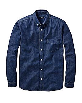 Indigo Long Sleeve Denim Shirt Long