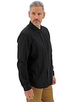 Blackwash Long Sleeve Denim Shirt Long