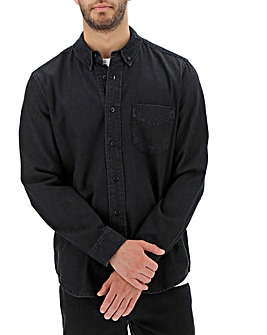 Blackwash Long Sleeve Denim Shirt Long