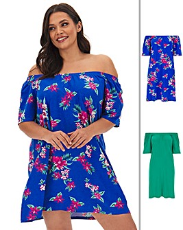 2 Pack Bardot Dresses