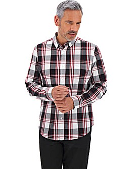 Navy Check Long Sleeve Shirt Long