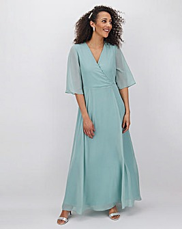 Sage Kimono Sleeve Maxi Dress