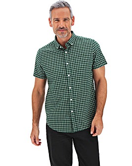 Green Check Stretch Oxford Shirt Long