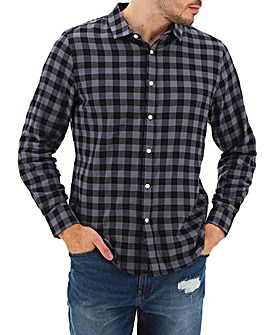 Black/Grey Buffalo Check Shirt Long