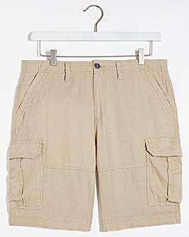 Utility Linen Shorts