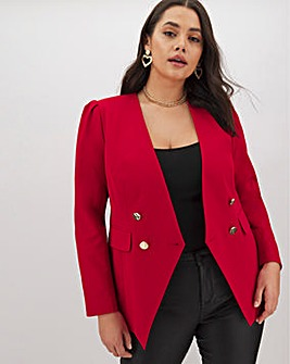 Red Double Breasted Trophy Blazer