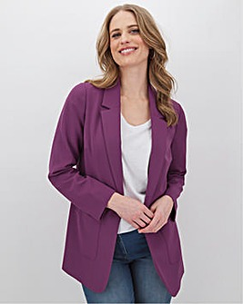 Purple Throw On Blazer
