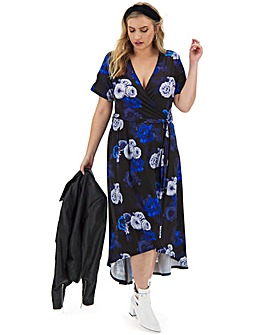 Hi Low Hem Wrap Dress