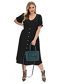 Button Through Midi Dress