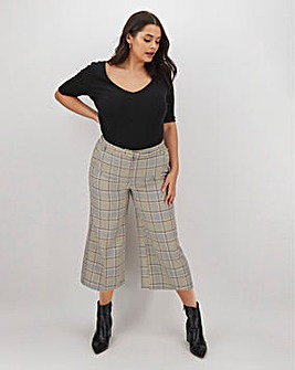 Tailored Check Culotte