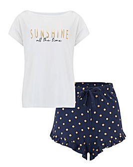 Pour Moi Sunshine All The Time PJ Set
