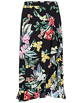 Pour Moi Woven Frill Wrap Skirt