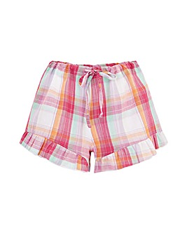 Pour Moi Cotton Check Frill Shorts