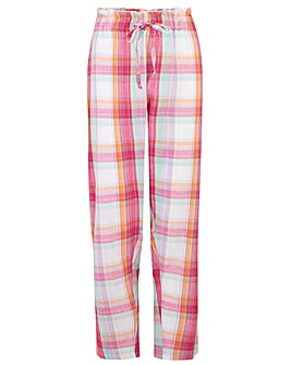 Pour Moi Cotton Check Paperbag Trousers